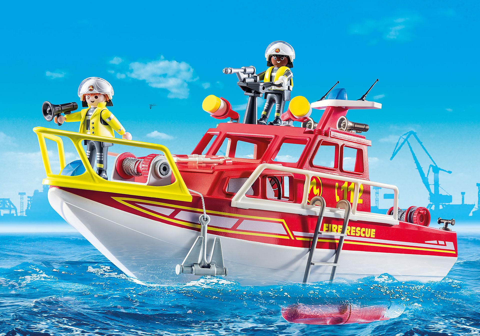 70147 Bateau de sauvetage et pompiers zoom image1