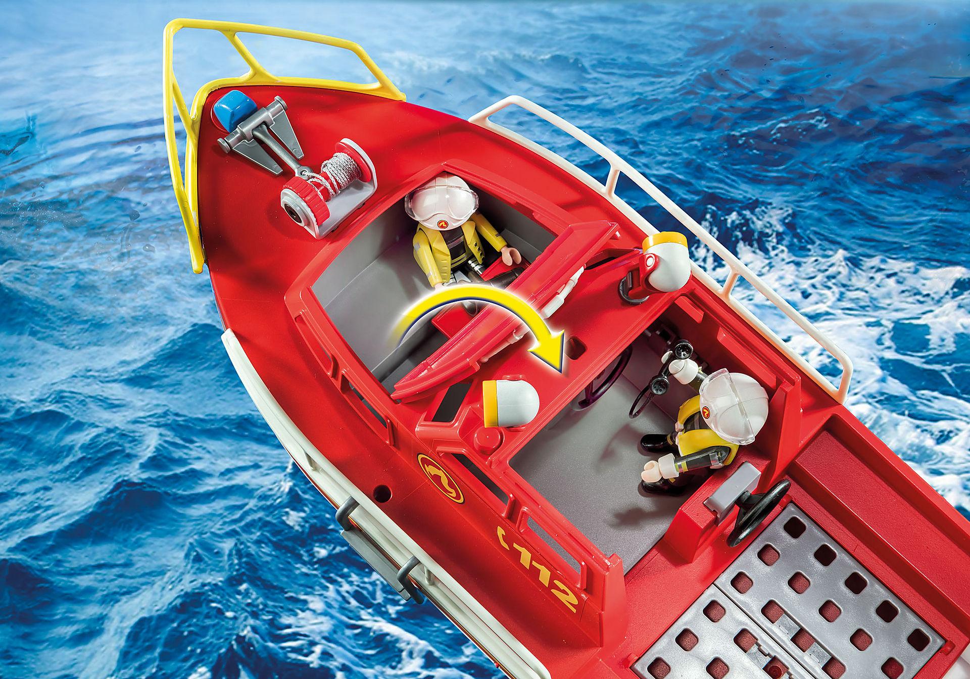 70147 Bateau de sauvetage et pompiers zoom image4