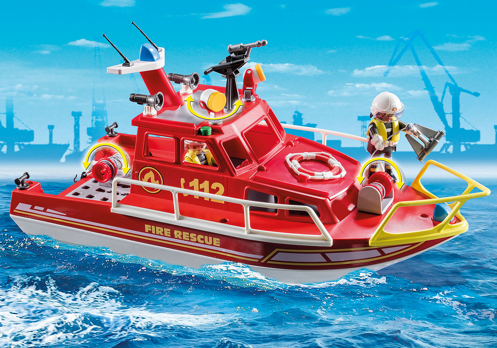 70147 Bateau de sauvetage et pompiers zoom image5