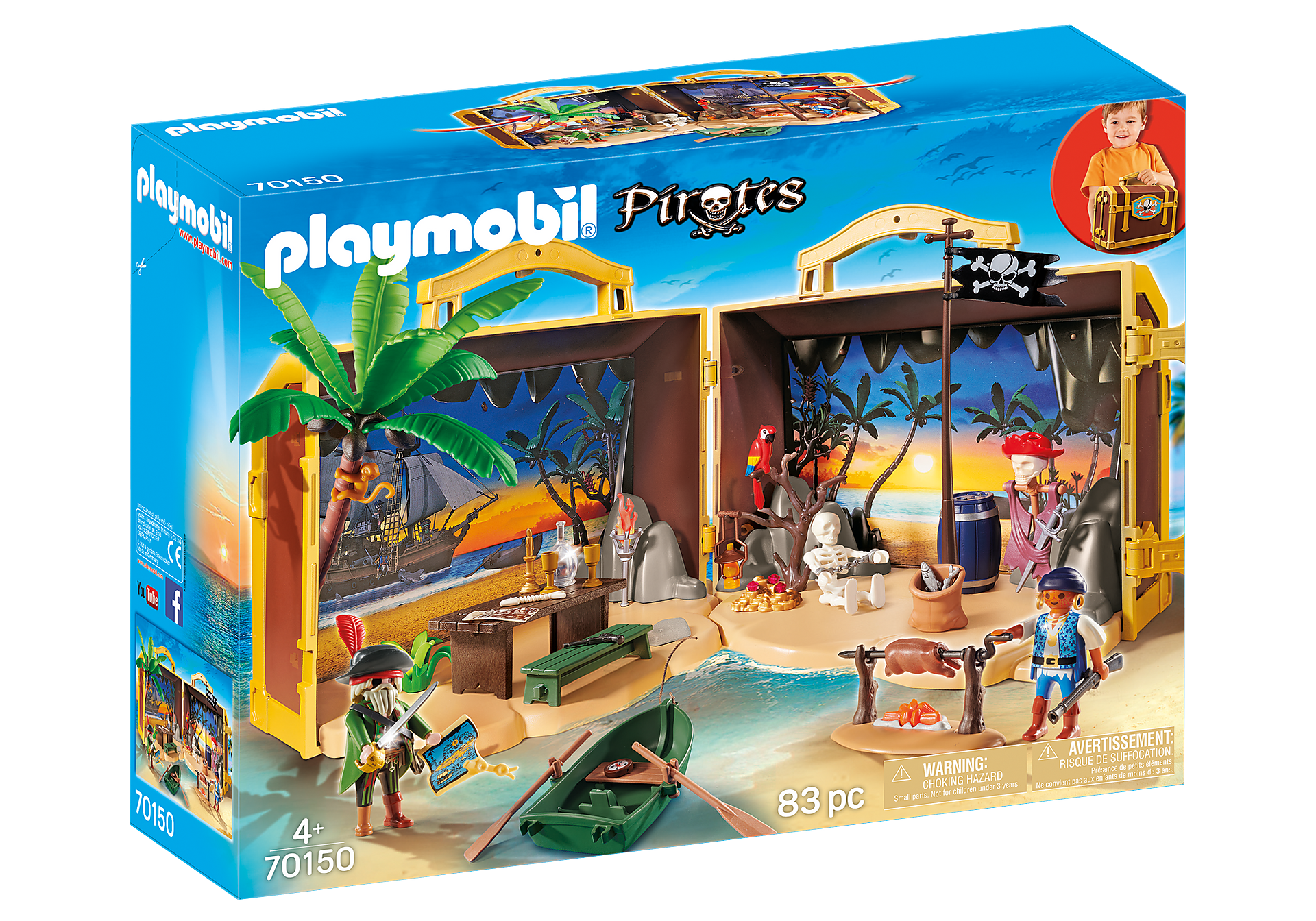 70150 Coffre des pirates transportable zoom image2
