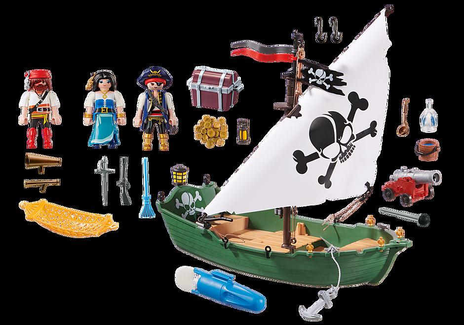 70151 Chaloupe des pirates avec moteur submersible  detail image 3