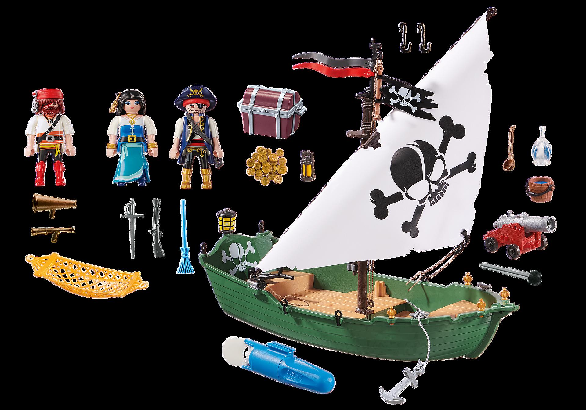 70151 Chaloupe des pirates avec moteur submersible  zoom image3