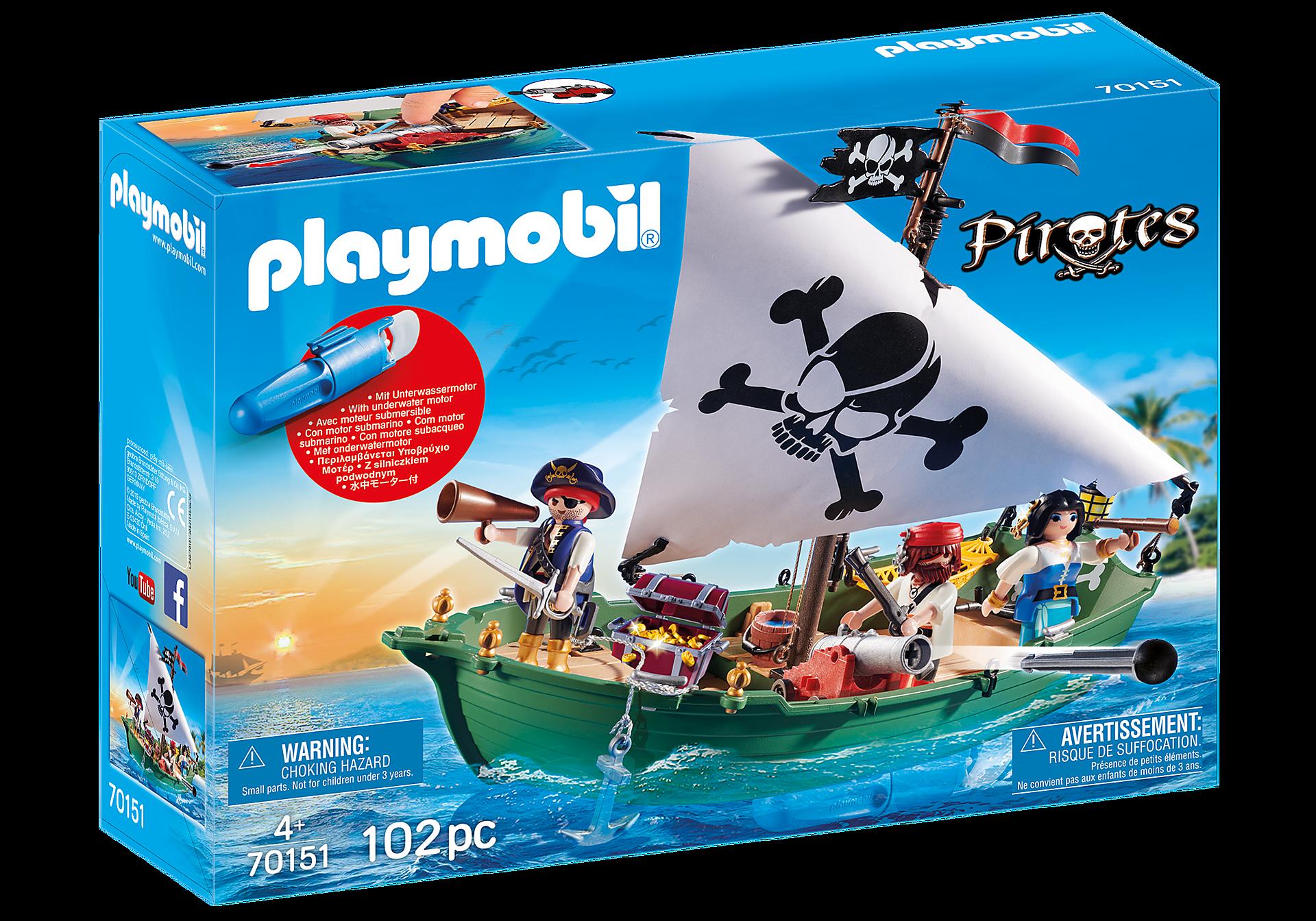 70151 Barco Pirata con motor submarino zoom image2