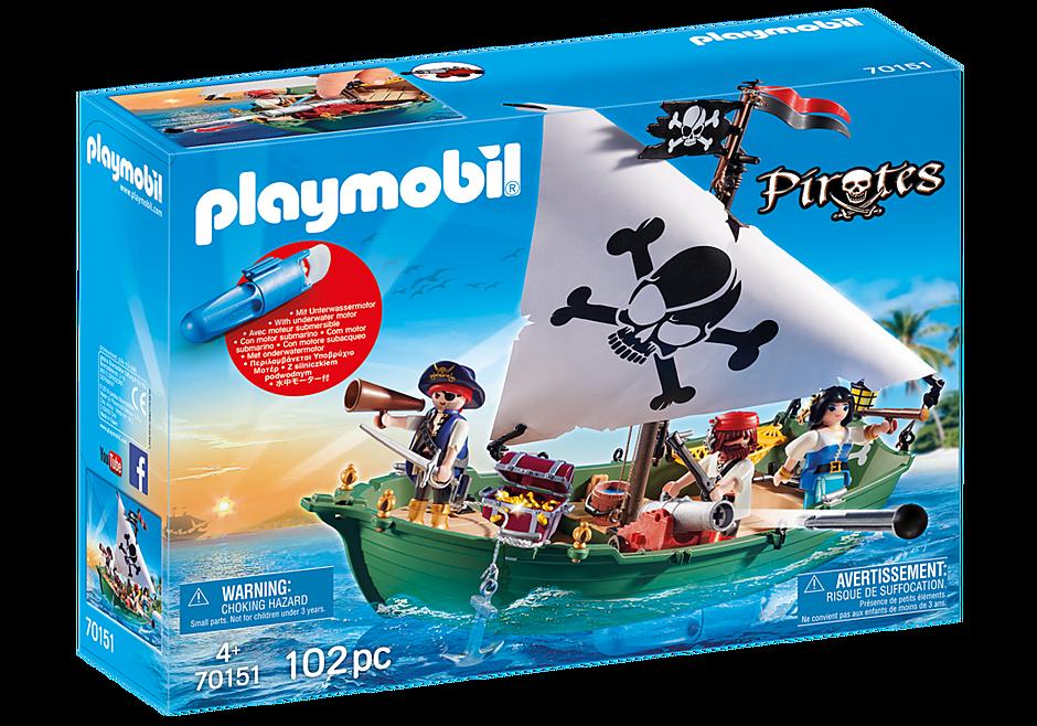 70151 Chaloupe des pirates avec moteur submersible detail image 2