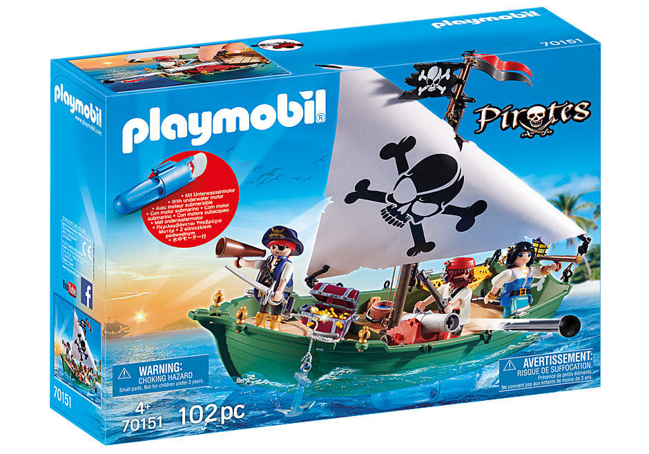70151 Navio Pirata com motor subaquático detail image 2