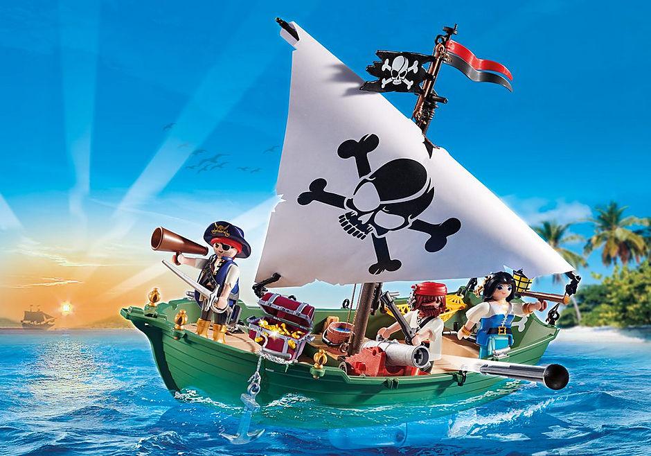 70151 Chaloupe des pirates avec moteur submersible detail image 1