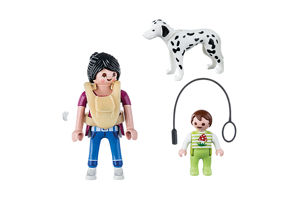 70154 Maman avec bébé et chien detail image 3