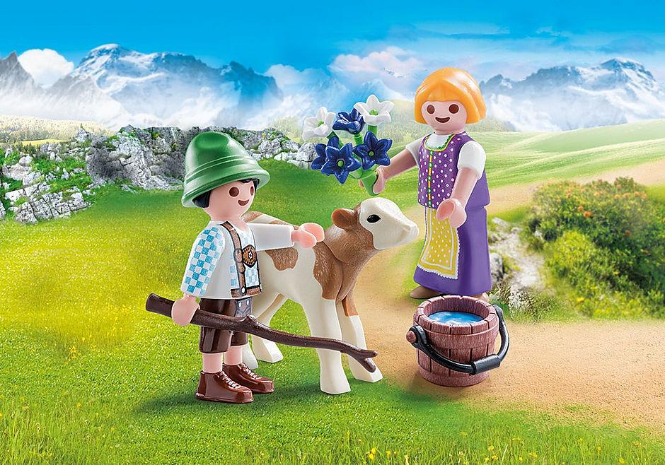 70155 Kinder mit Kälbchen detail image 1
