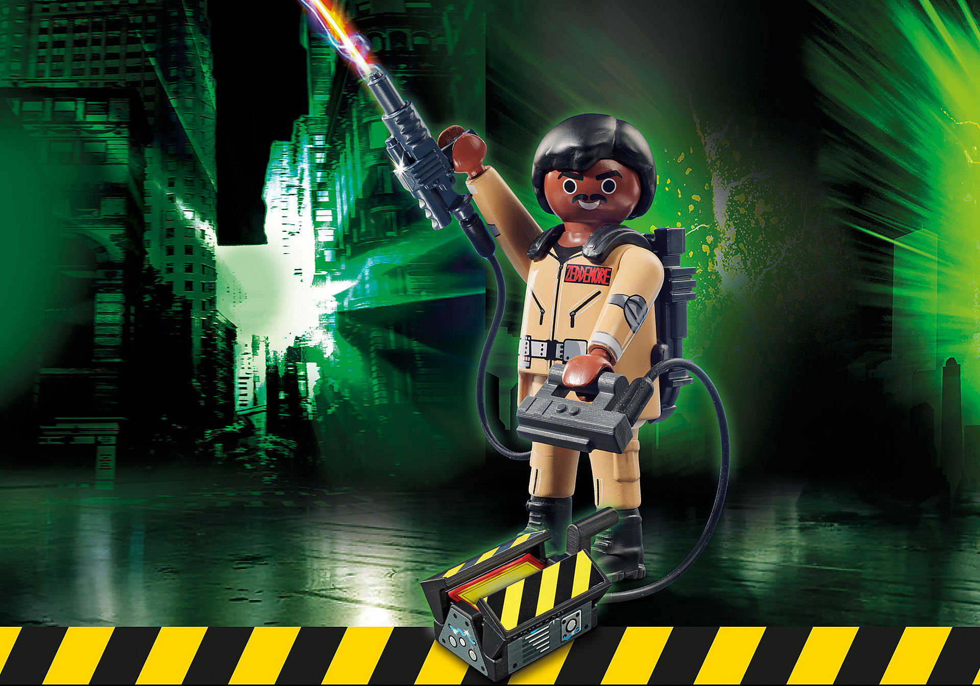 http://media.playmobil.com/i/playmobil/70171_product_box_front/Ghostbusters™ Figura Coleccionable W. Zeddemore