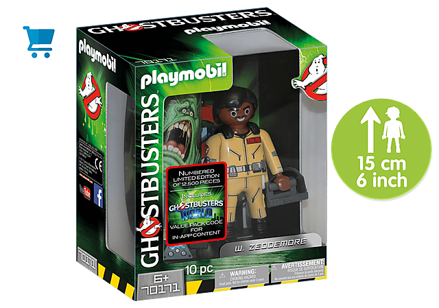 70171_product_detail/Ghostbusters™ Collection Figure W. Zeddemore