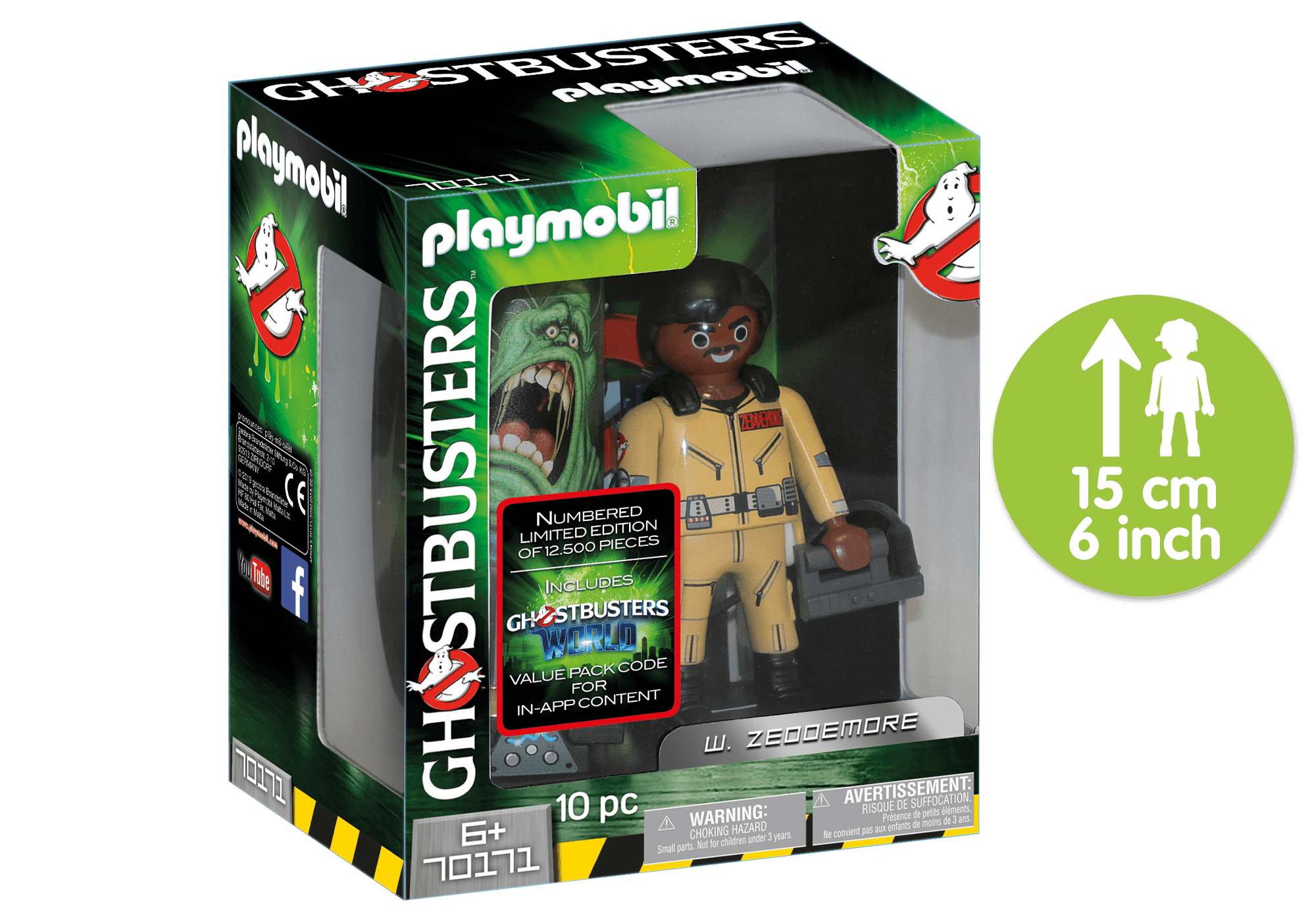 http://media.playmobil.com/i/playmobil/70171_product_detail/Ghostbusters™ Figura Coleccionable W. Zeddemore