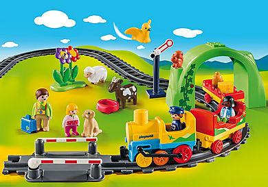 70179 Σετ Τρένου 1.2.3 με ζωάκια και επιβάτες