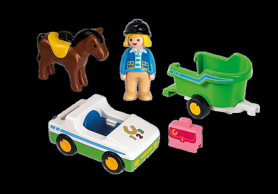 70181 Bil med hestetrailer detail image 3