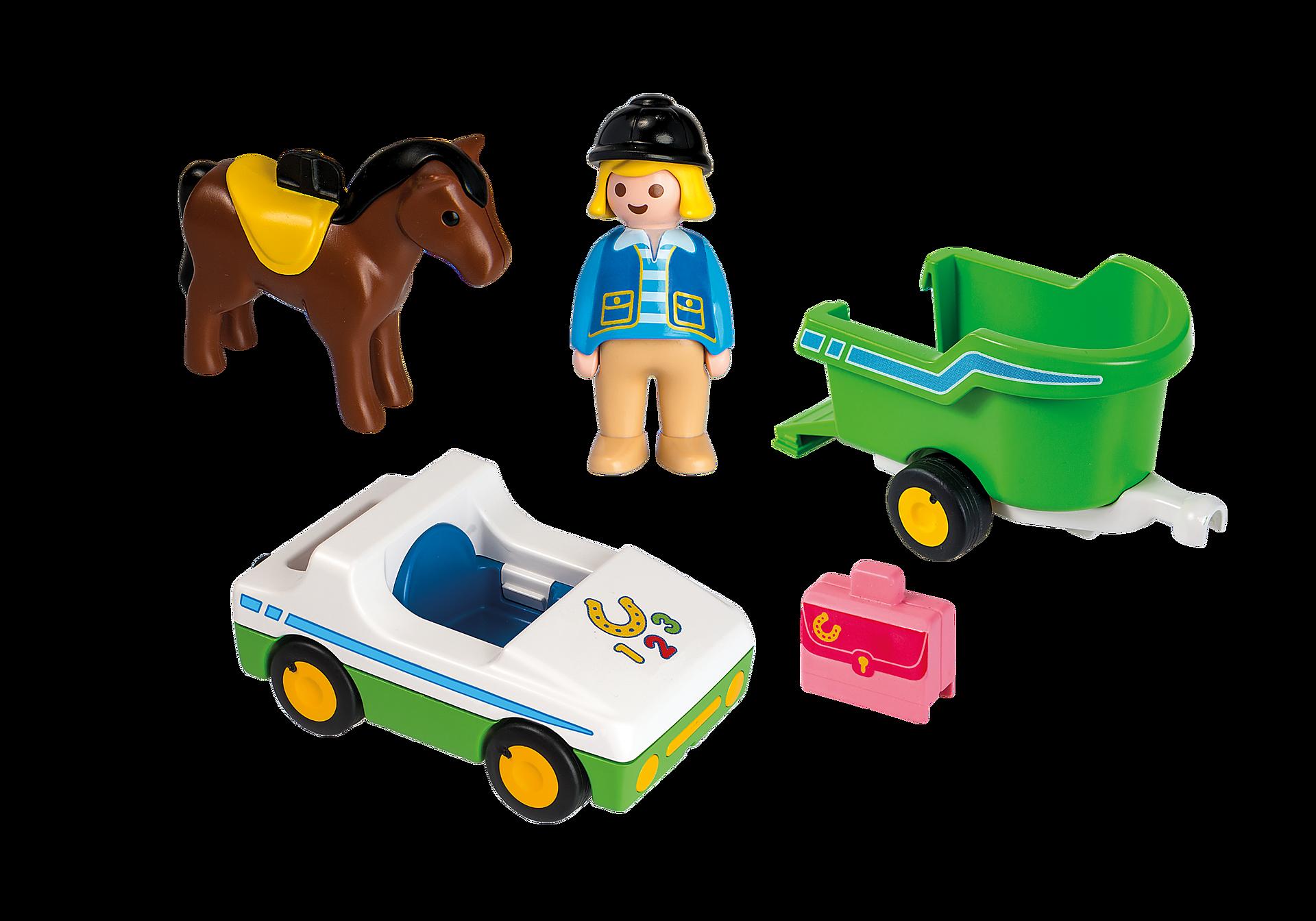 http://media.playmobil.com/i/playmobil/70181_product_box_back/Cavalière avec voiture et remorque