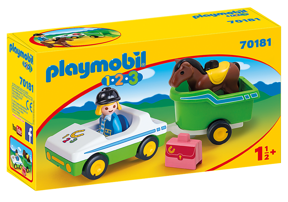 70181 Bil med hestetrailer detail image 2