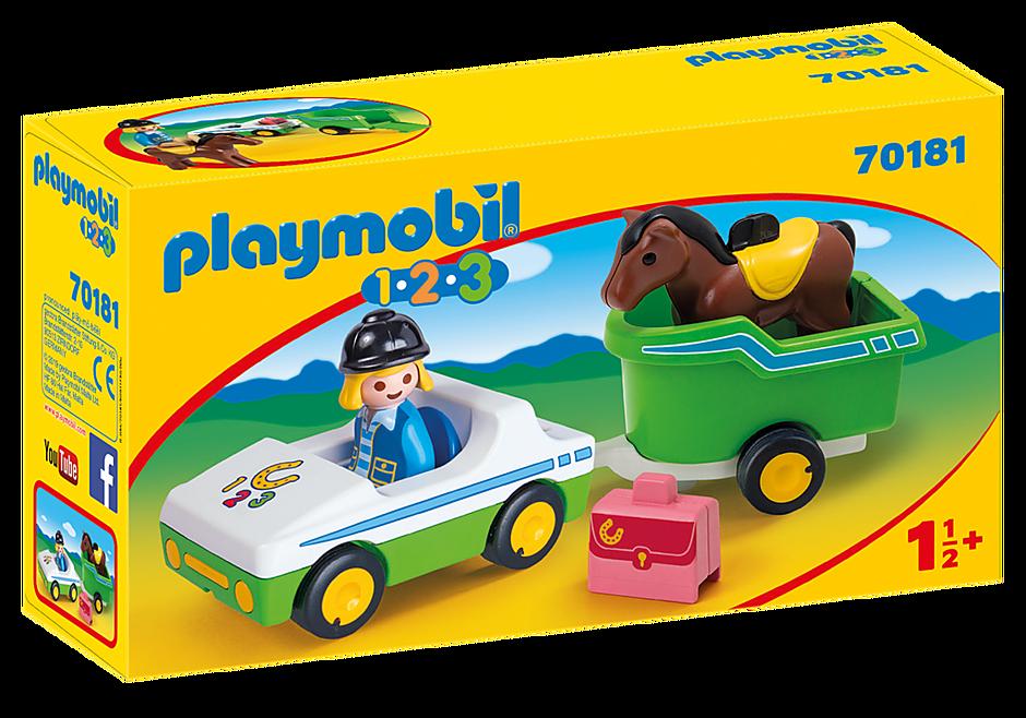 70181 Cavalière avec voiture et remorque detail image 2