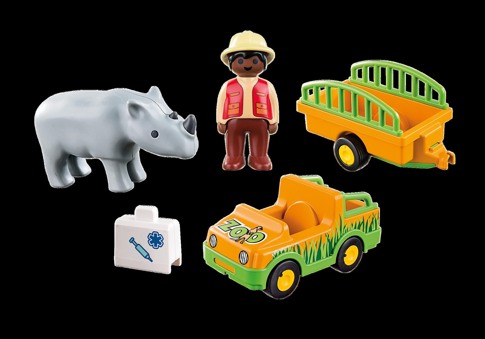 70182 Vétérinaire avec véhicule et rhinocéros zoom image3