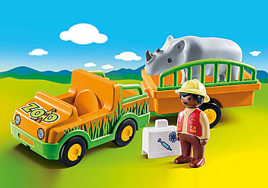 70182 Zoo Vehicle with Rhinoceros