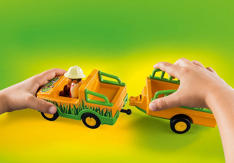 70182 Zoofahrzeug mit Nashorn detail image 4