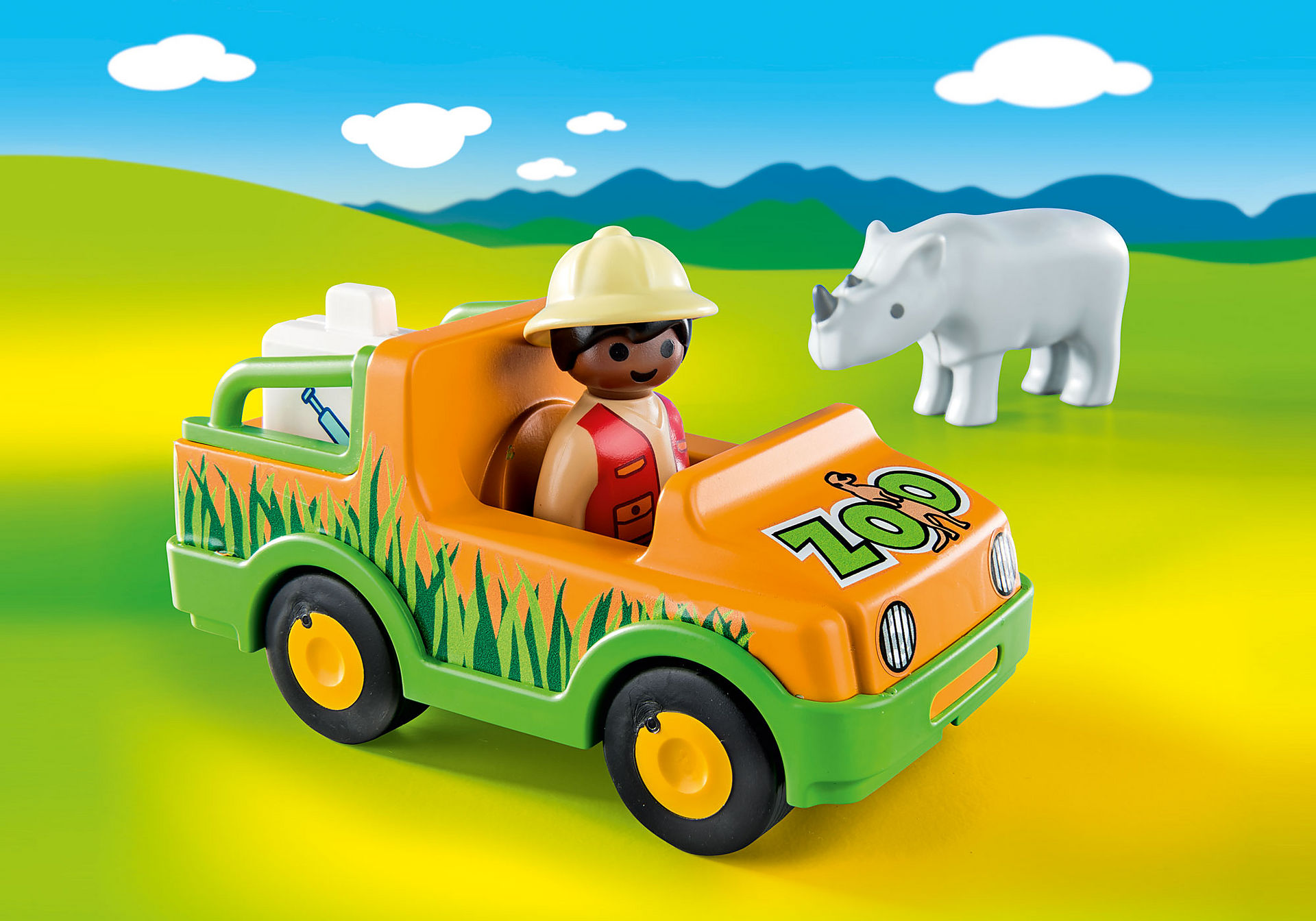 70182 Όχημα ζωολογικού κήπου με ρινόκερο zoom image5