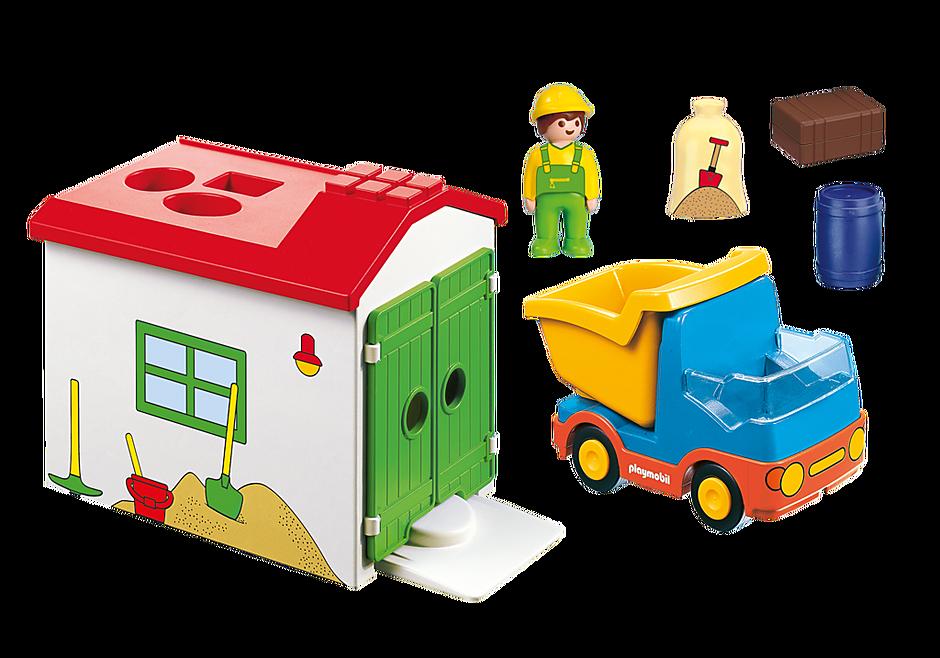 70184 Ouvrier avec camion et garage detail image 3