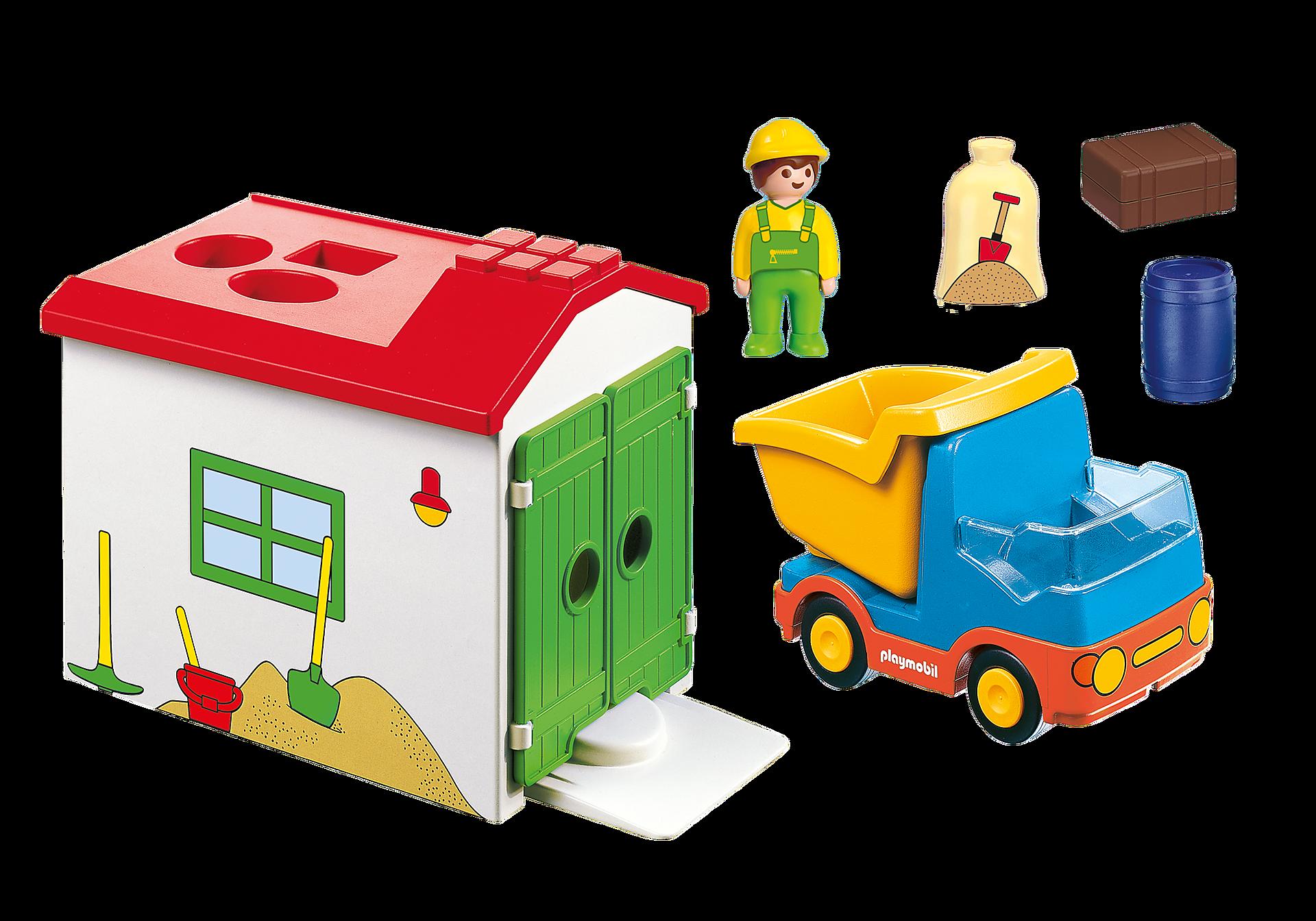 70184 Ouvrier avec camion et garage zoom image3