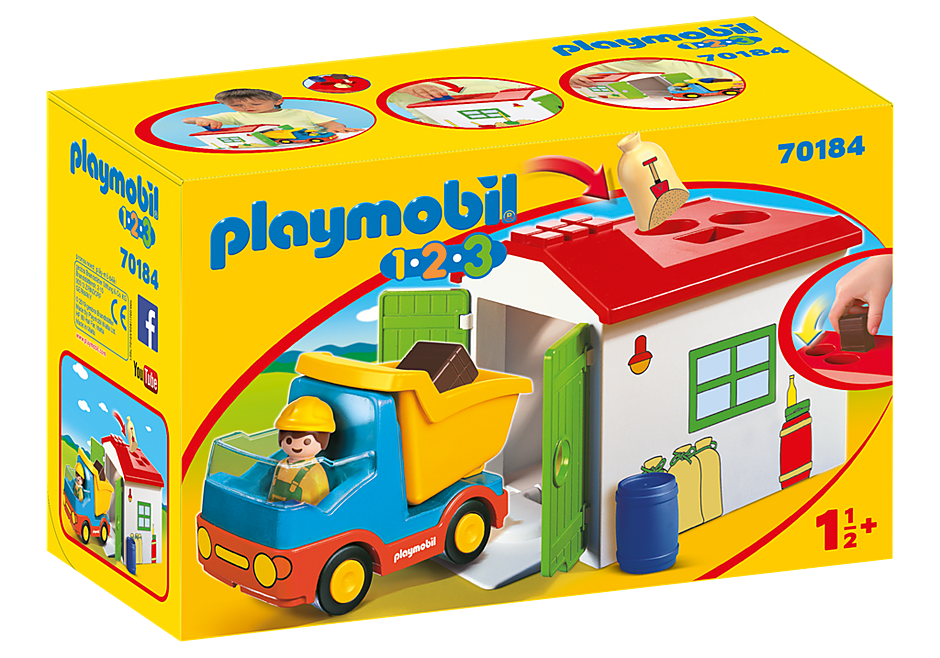 http://media.playmobil.com/i/playmobil/70184_product_box_front/LKW mit Sortiergarage