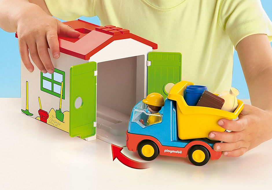 http://media.playmobil.com/i/playmobil/70184_product_extra3/LKW mit Sortiergarage