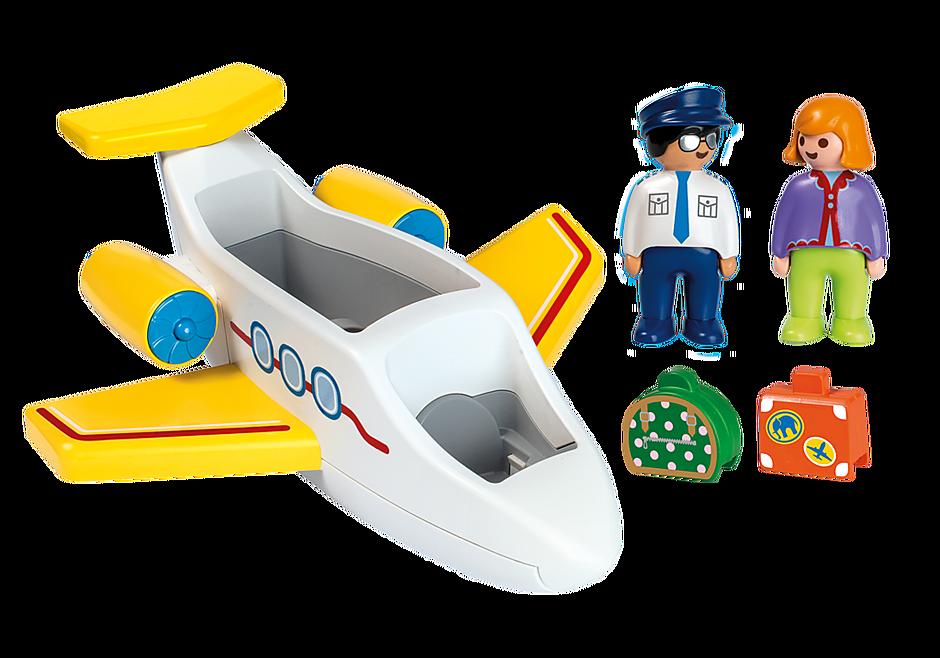 http://media.playmobil.com/i/playmobil/70185_product_box_back/Avion avec pilote et vacancière