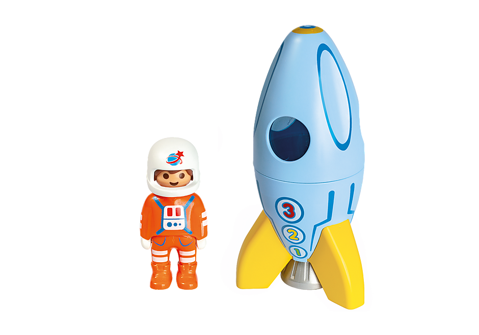 70186 Astronaut met raket detail image 3