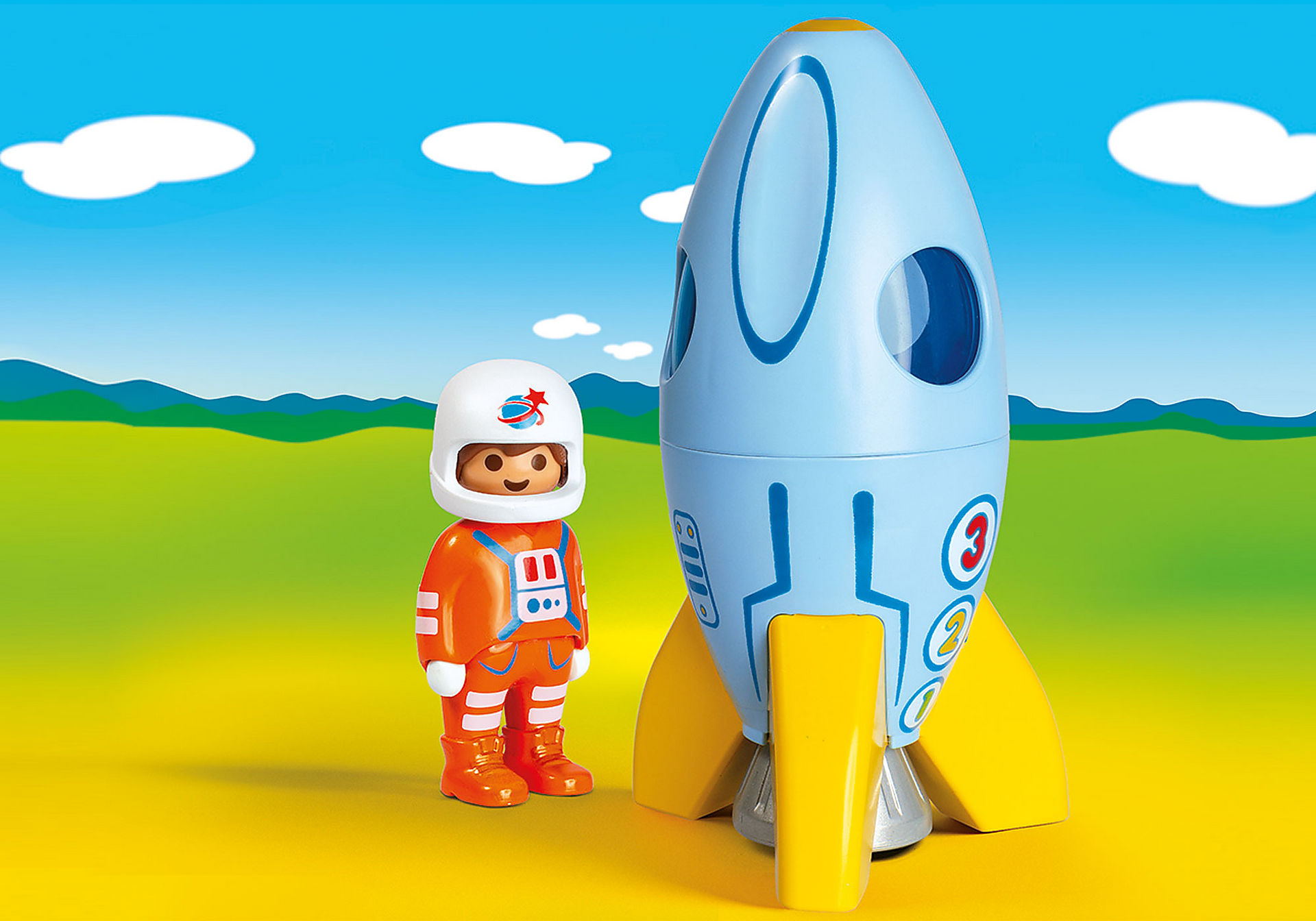 70186 Astronaut med raket zoom image1
