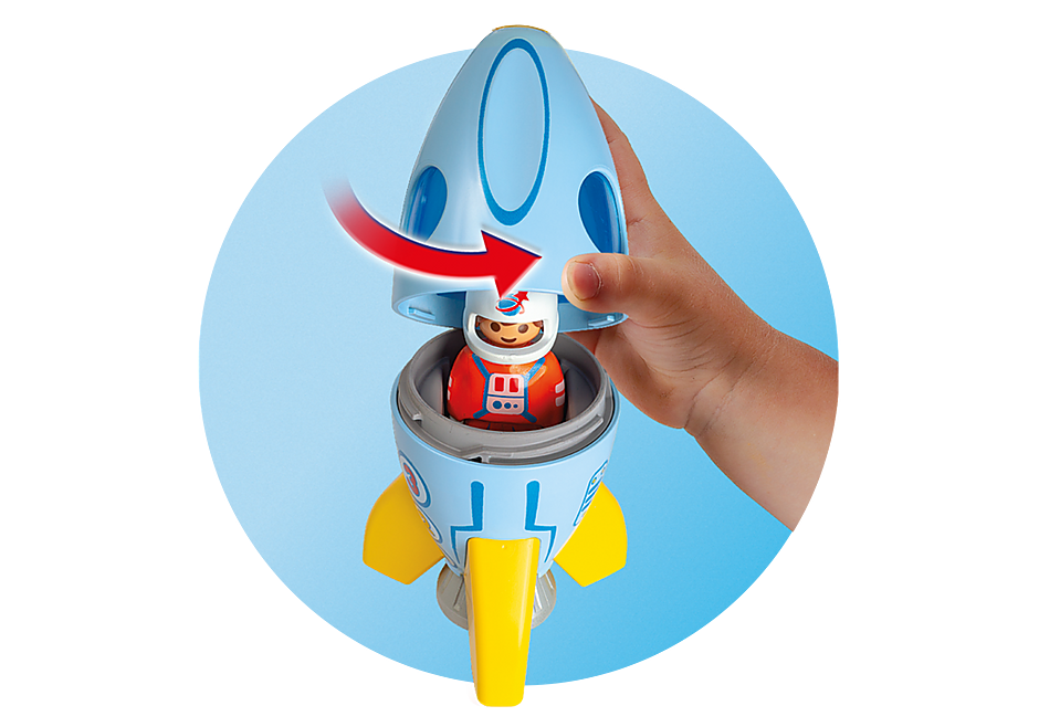 70186 Astronaut med raket detail image 4