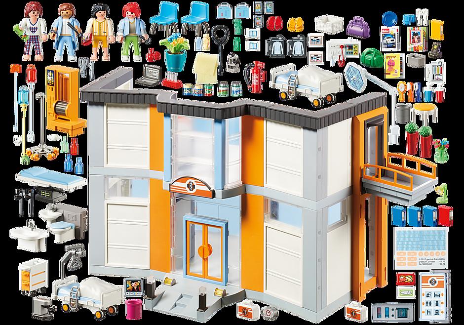 http://media.playmobil.com/i/playmobil/70190_product_box_back/Hôpital aménagé