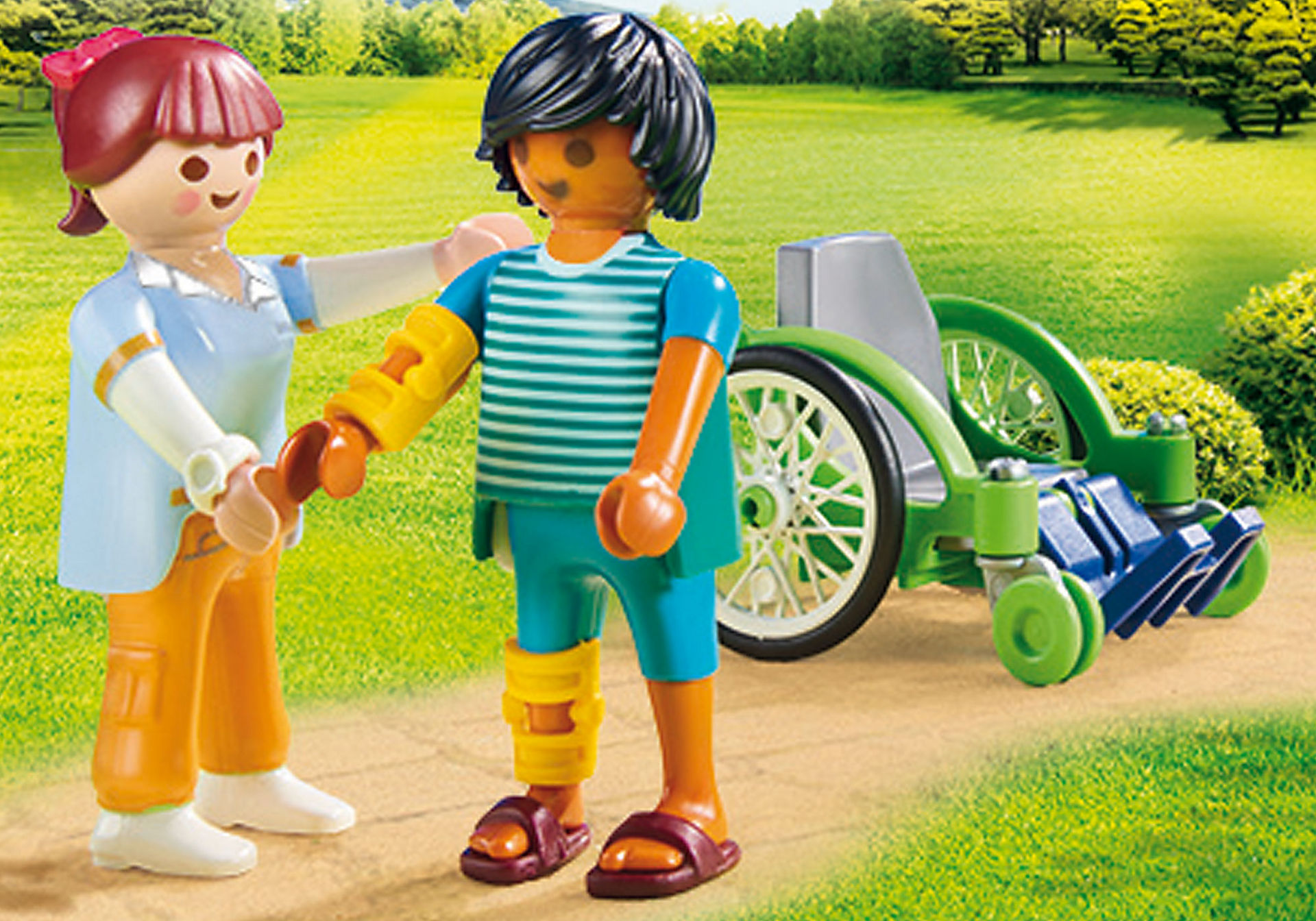 http://media.playmobil.com/i/playmobil/70193_product_extra1/Paziente con sedia a rotelle