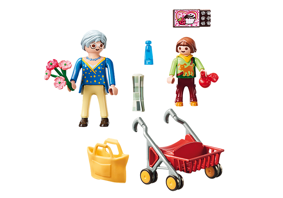 70194 Petite fille et grand-mère  detail image 3