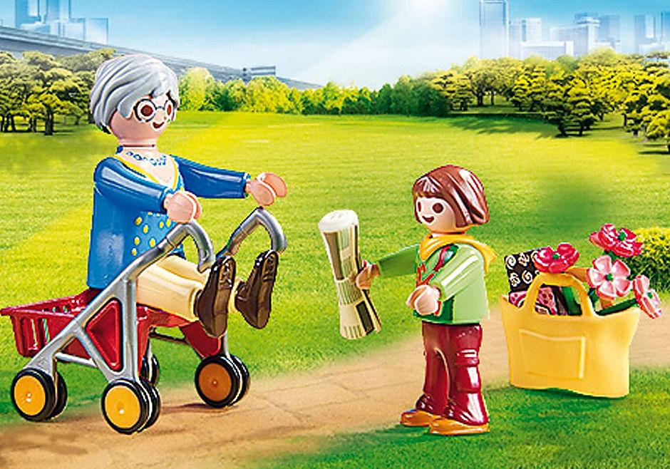 70194 Petite fille et grand-mère  detail image 4
