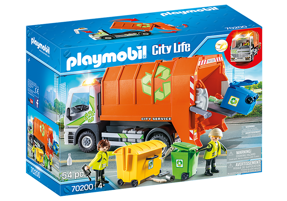 http://media.playmobil.com/i/playmobil/70200_product_box_front/Afval recycling truck