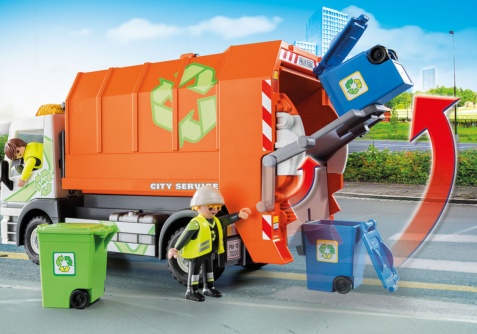 http://media.playmobil.com/i/playmobil/70200_product_extra2/Afval recycling truck