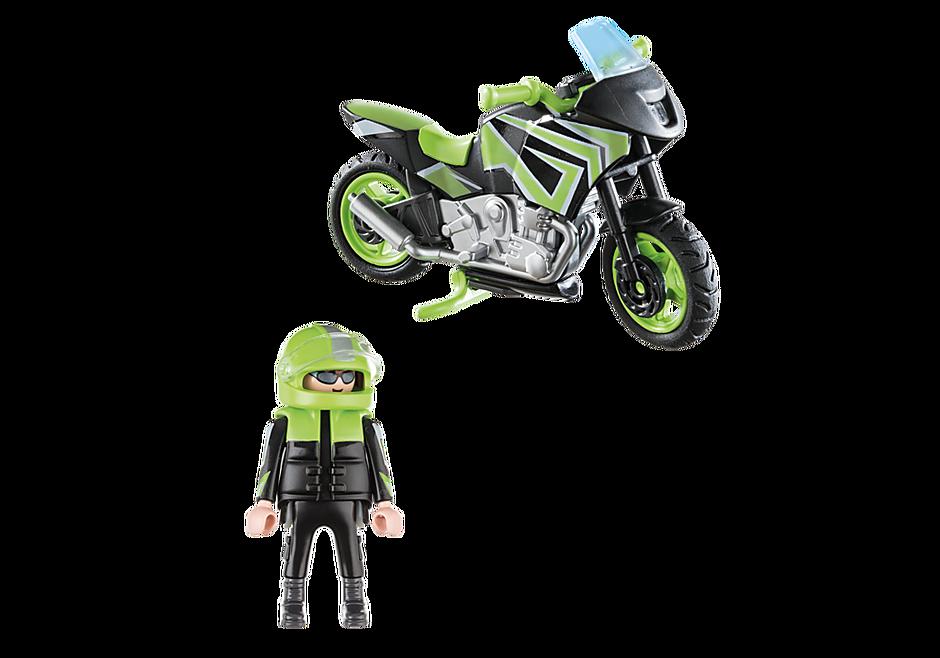 70204 Moto com motociclista detail image 3