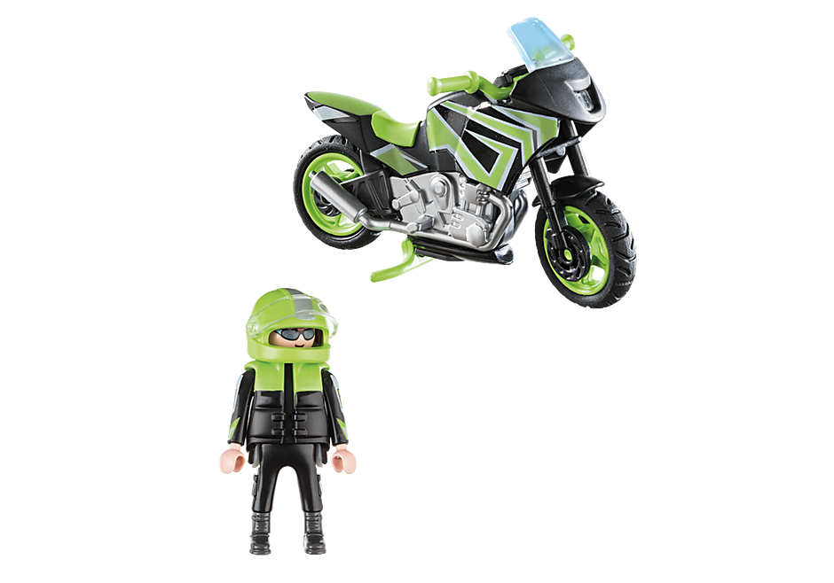 70204 Motorcycle with Rider detail image 3