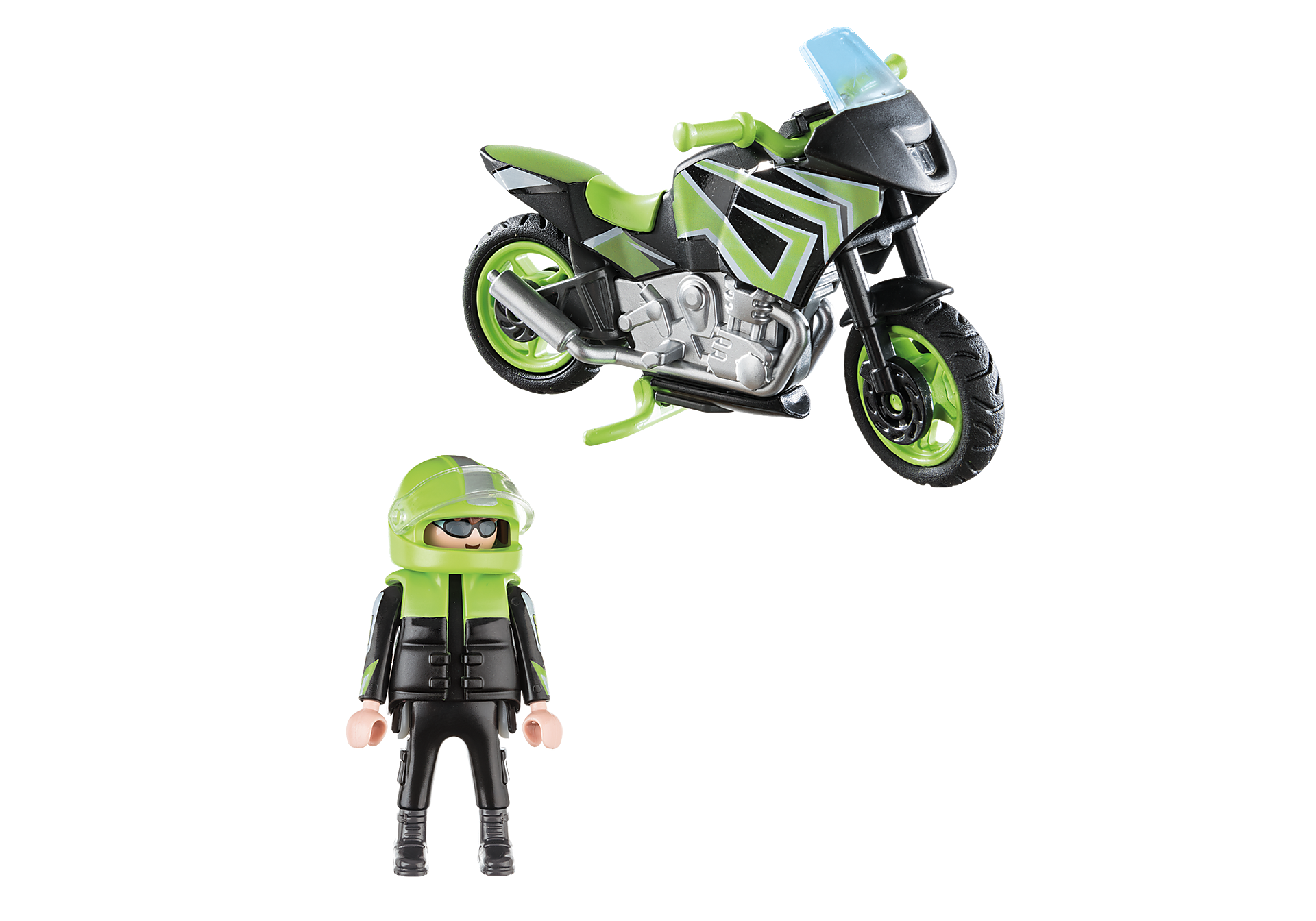 70204 Motorcycle with Rider zoom image3
