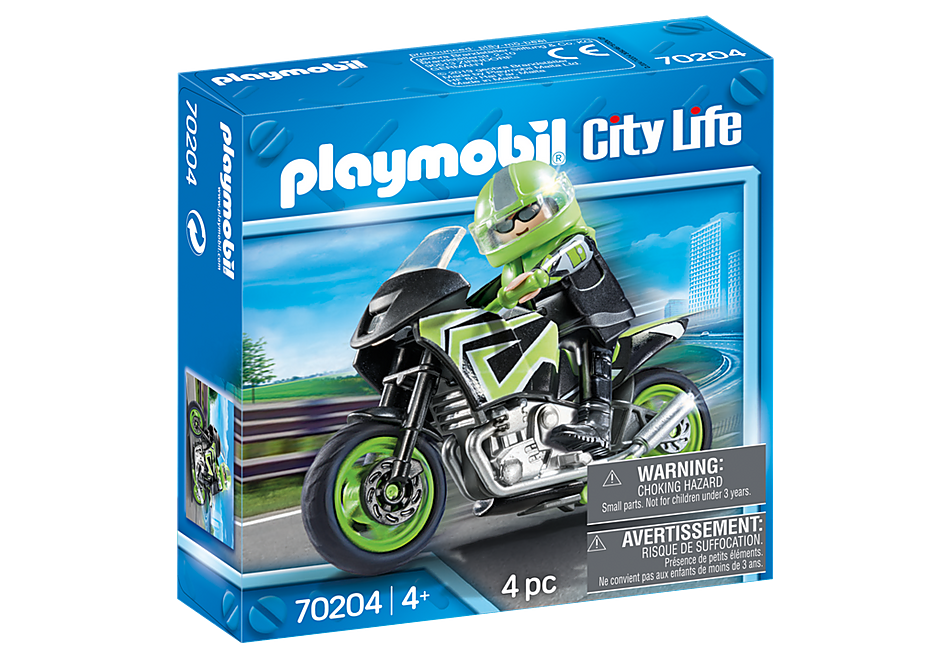 70204 Motocyklista z motorem detail image 2