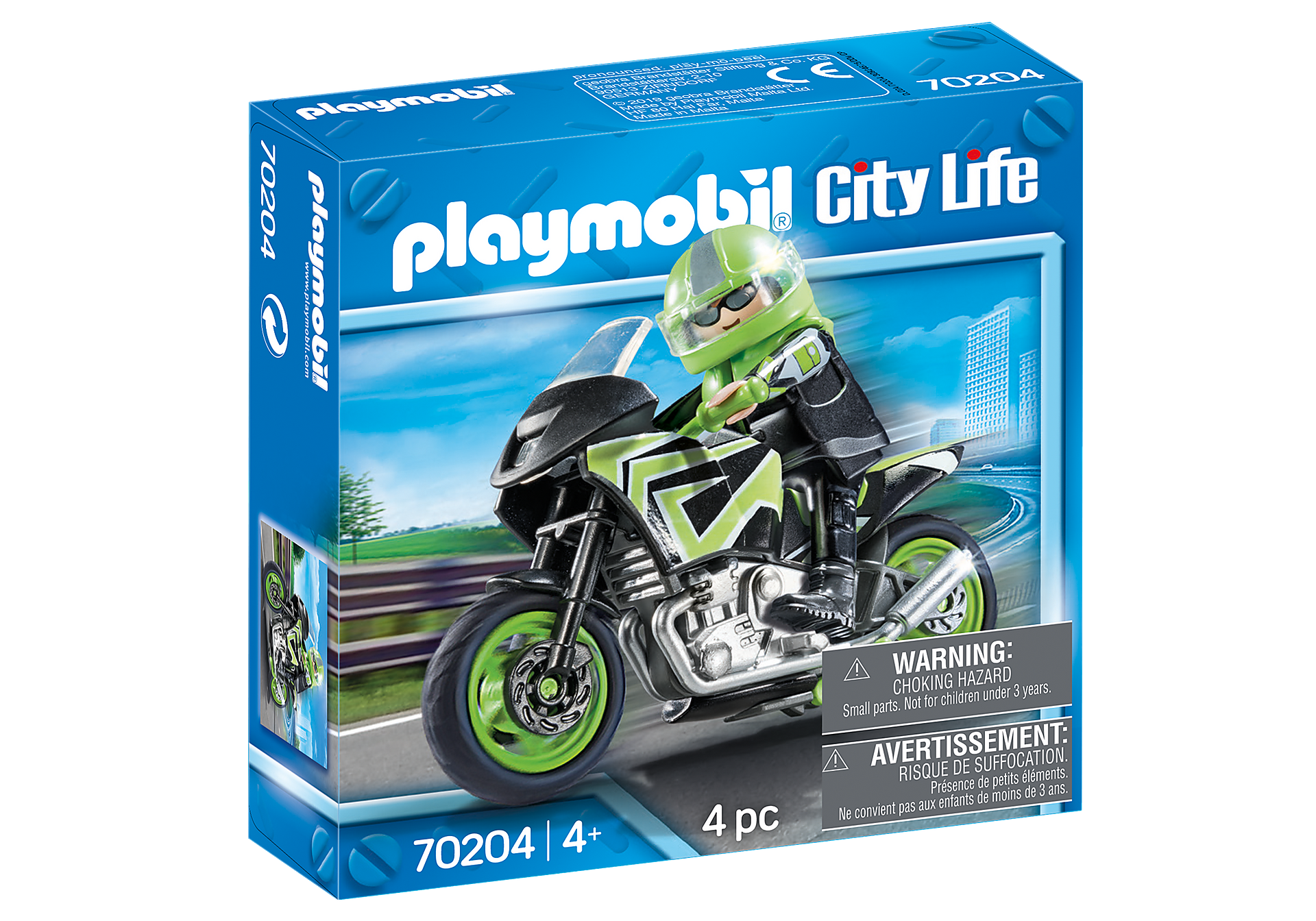 70204 Motocyklista z motorem zoom image2