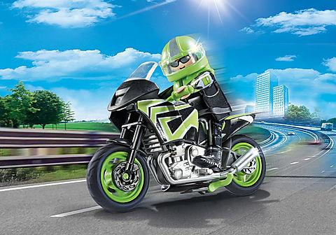 70204 Moto com motociclista