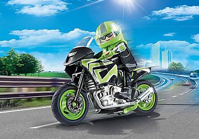 70204 Motocyklista z motorem