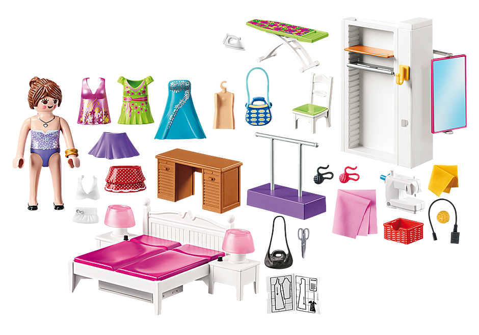 http://media.playmobil.com/i/playmobil/70208_product_box_back/Bedroom with Sewing Corner