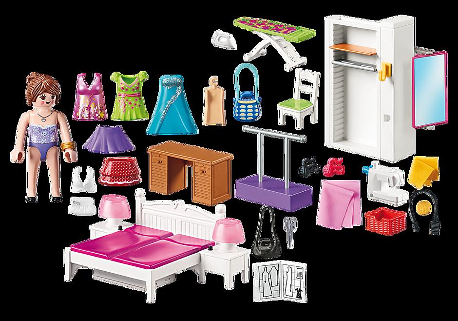 http://media.playmobil.com/i/playmobil/70208_product_box_back/Schlafzimmer mit Nähecke