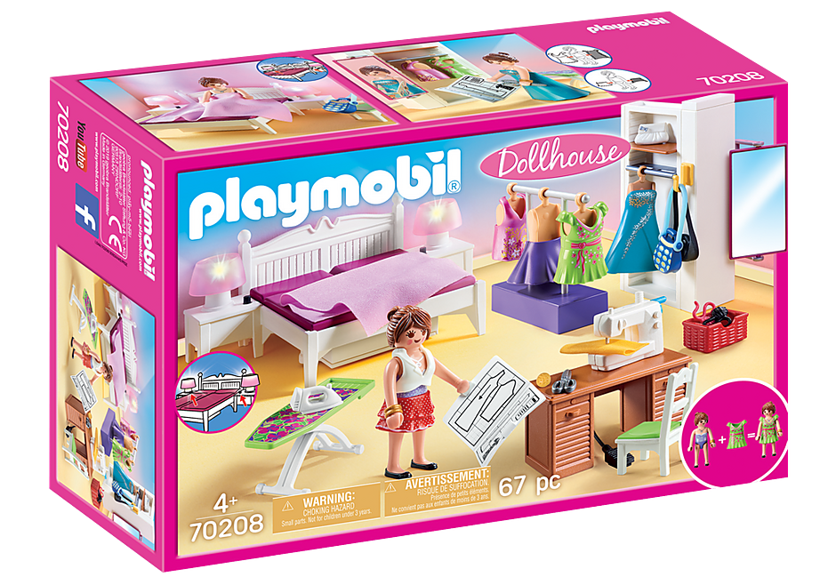 http://media.playmobil.com/i/playmobil/70208_product_box_front/Schlafzimmer mit Nähecke