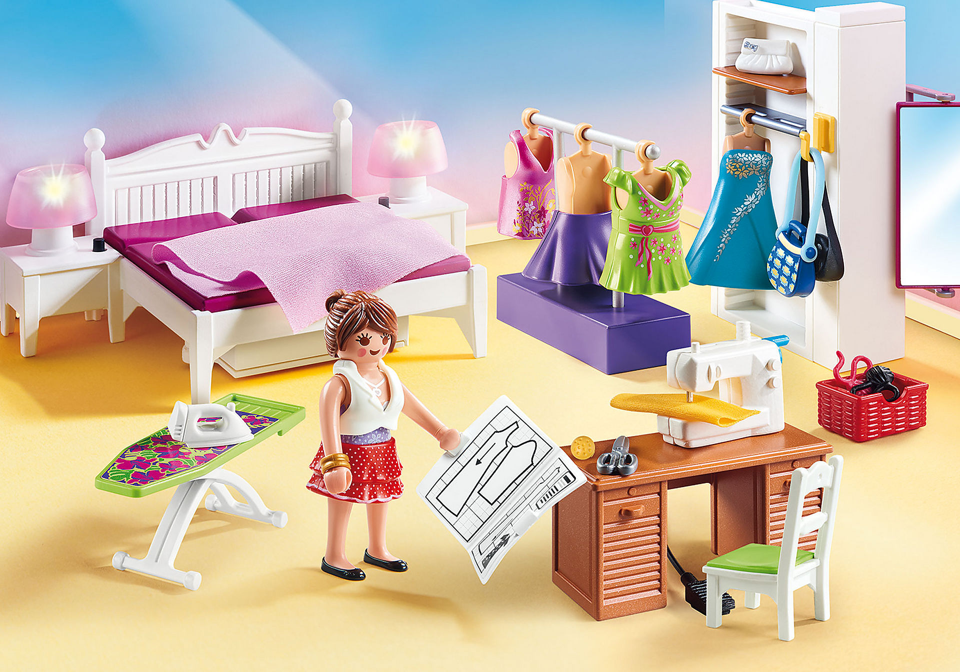 http://media.playmobil.com/i/playmobil/70208_product_detail/Camera da letto con angolo per cucito
