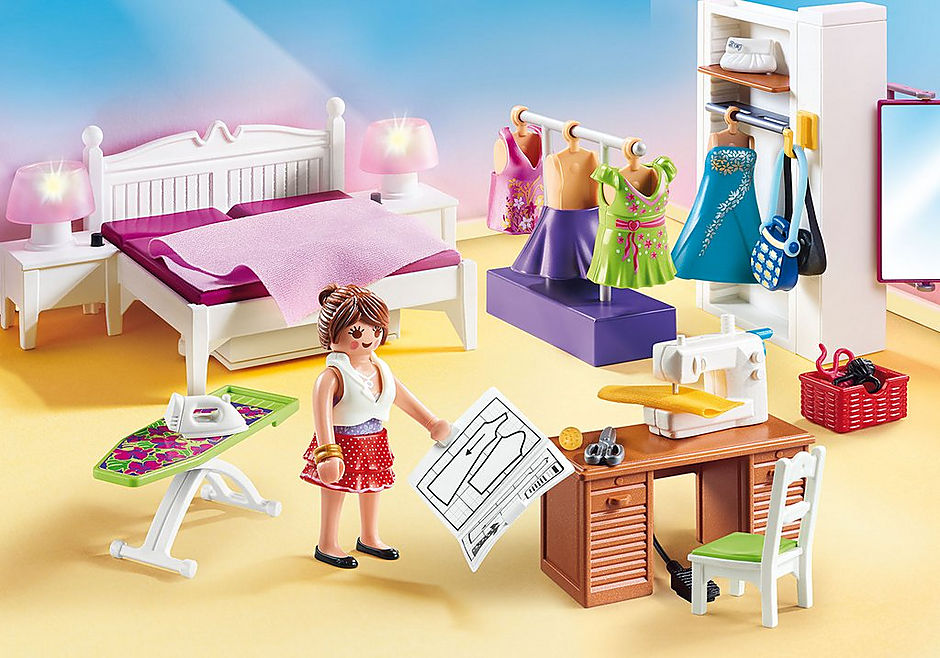 70208 Chambre avec espace couture detail image 1